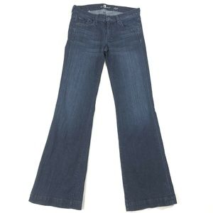 7 For All Mankind DOJO Womens Dark Wash Flare